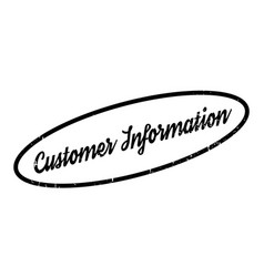 customer information rubber stamp vector image