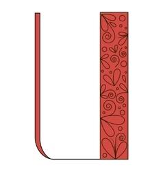 Decorative letter shape Font type U vector image