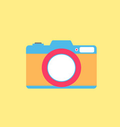 digital photo flat style icon vector image