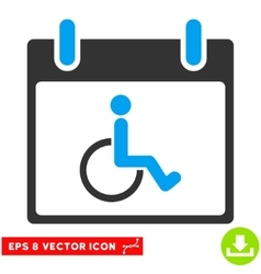 Disabled Person Calendar Day Eps Icon vector image