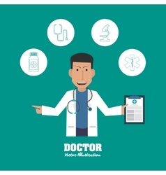 Doctor design medical and healthcare concept vector image
