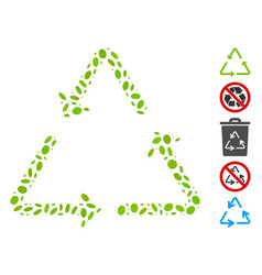 Dotted collage recycling triangle vector