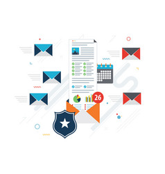 email protection and secure communication on vector image