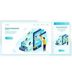 eps social network dating service set vector image