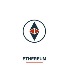 Ethereum icon creative two colors design from vector