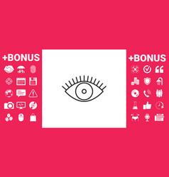 eye icon - line concept vector image