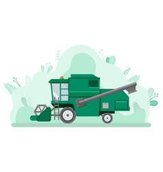 Farming car harvesting combine machine vector