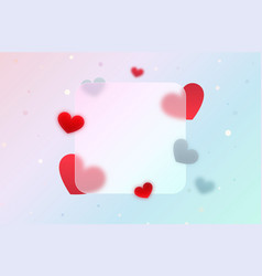 festive banner with red abstract hearts vector image