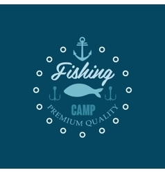 Fishing Camp Logo vector image