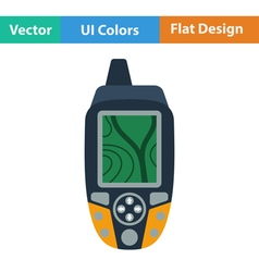 Flat design icon of portable GPS device vector