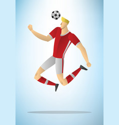 football player 16 vector image
