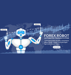 forex robot concept with ai android vector image
