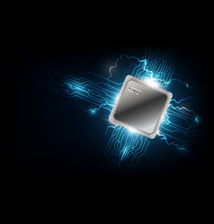 future computer processor electronic technology vector image