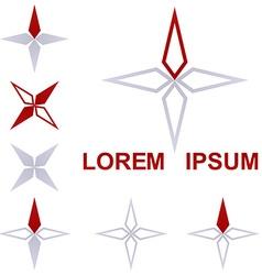 Geometric Star Logo Set vector image