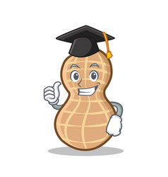 Graduation peanut character cartoon style vector