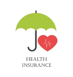 Health insurance emblem vector image