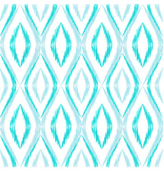 ikat ogee seamless pattern vector image