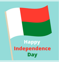 independence day madagascar vector image