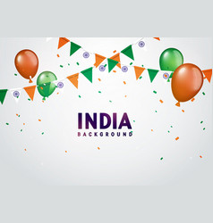 india celebration background in indian colors vector image