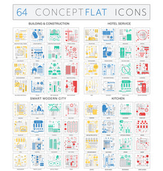 Infographics concept icons of building vector