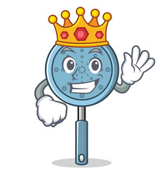 King skimmer utensil character cartoon vector