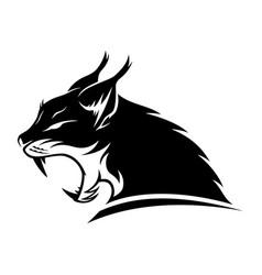 Lynx black sign vector