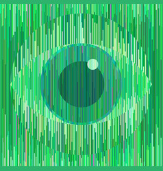 magic green eye sign in geometric unique style vector image