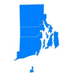 Map of Rhode Island vector image