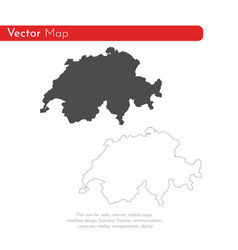 map switzerland isolated vector image