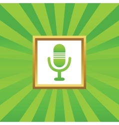 Microphone picture icon vector image