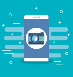 mobile phone camera application photo selfie icon vector image vector image