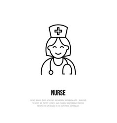 Modern line icon of nurse gynecology vector
