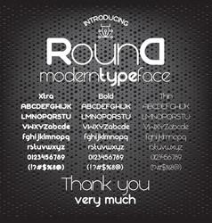 modern minimalistic sans serif font round vector image