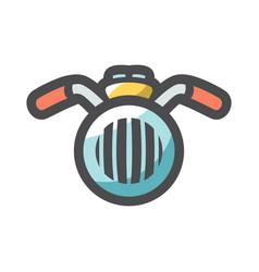 Motorcycle handlebar steering wheels icon vector