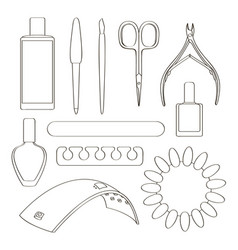 nail salon set vector image