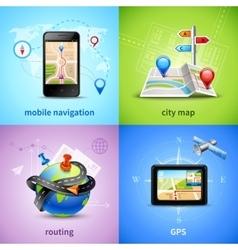 Navigation Concept Set vector