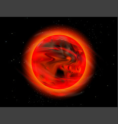 New sun outer space scene vector