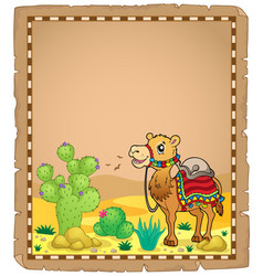 Parchment with camel 1 vector