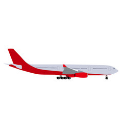 Passenger aircraft on white background vector