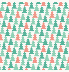 pine forest seamless pattern vector image