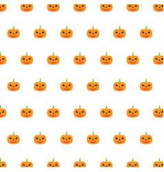 pumpkin background seamless pattern happy vector image