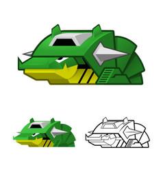 Robot Slug vector image