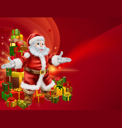 Santa and presents background vector