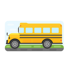 School bus transport for children vector
