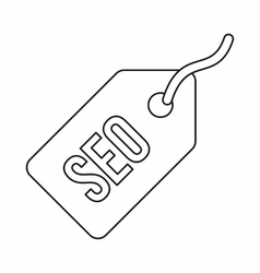 SEO tag icon in outline style vector image