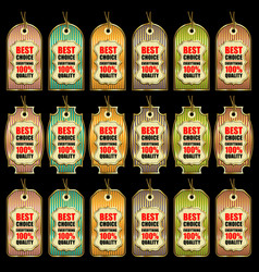 set various colorful sale tags vector image