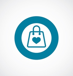 shopping bag icon bold blue circle border vector image