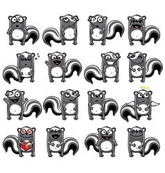 Smiley skunk vector
