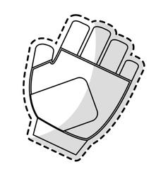 Sport glove icon vector