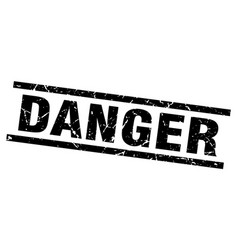Square grunge black danger stamp vector